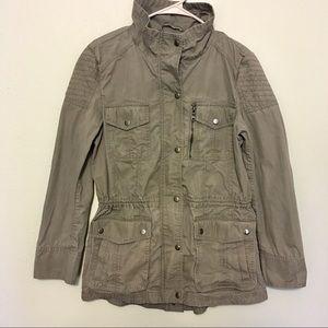 Banana Republic Military/Utility Jacket, Gray